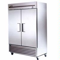 True Food Service Equipment T49HC ReachIn Refrigerator 2 Swing Doors 5413 Wide x 295 Deep x 7837 Height 4 Casters